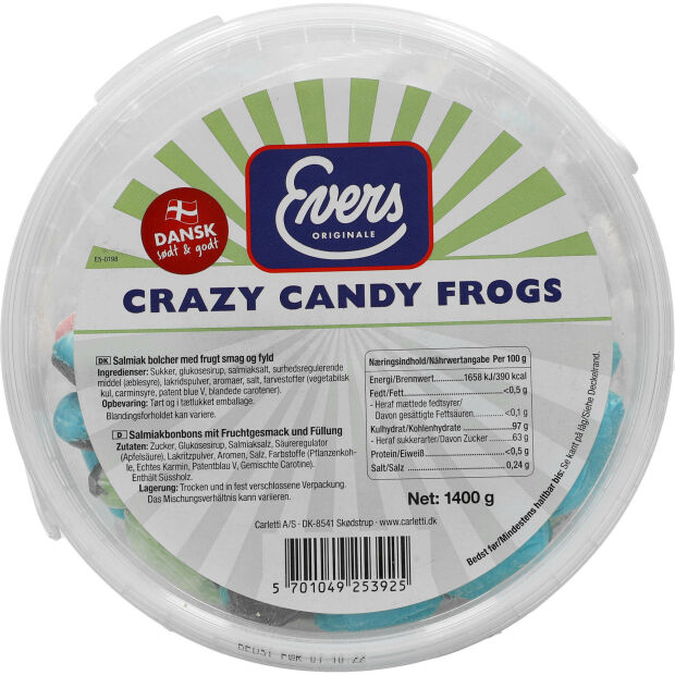 Evers Crazy Candy Frogs 1400g