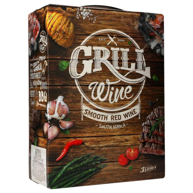 Grill Wine Smooth red15% 3 ltr