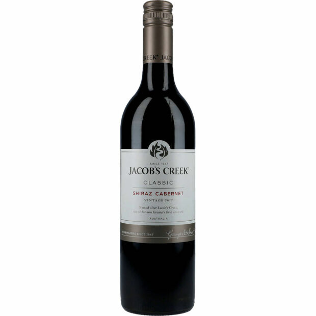 Jacobs Creek Shiraz Cabernet 13,9% 0,75 ltr.