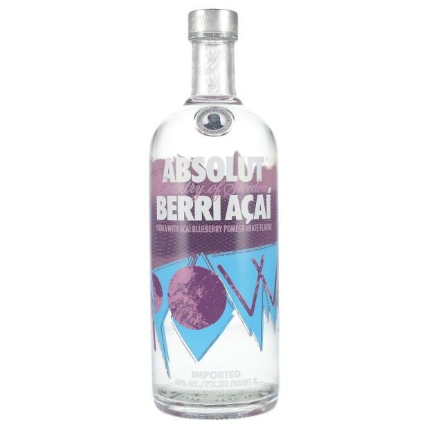 Absolut Berri Acai Vodka 40% 1 ltr.