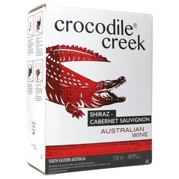 Crocodile Creek Cabernet Sauvignon 14% 3 ltr.