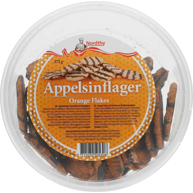 Nordthy Appelsinflager Orange Flakes 275g