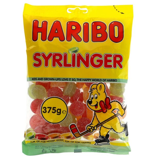 Haribo Syrlinge 375g