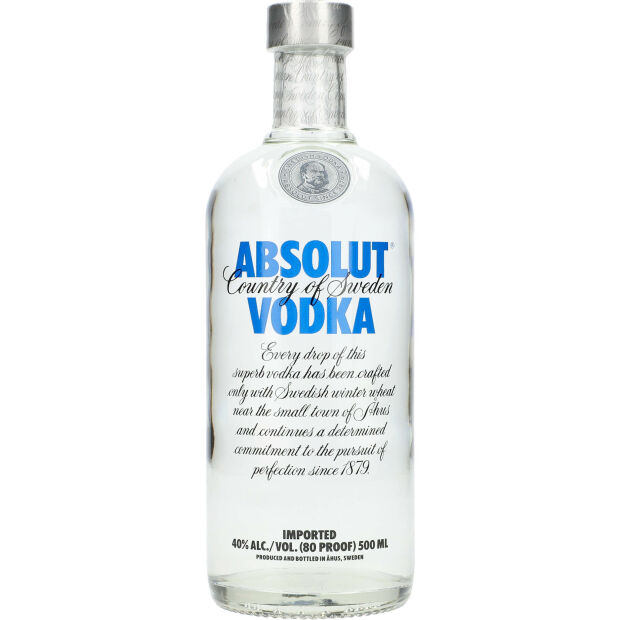 Absolut Vodka 40% 0,5 ltr.