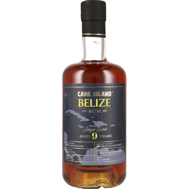 Cane Island Belize Rum 9y 43% 0,7 ltr.
